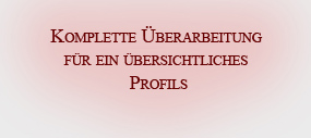 Neues Profil (Userdetails)